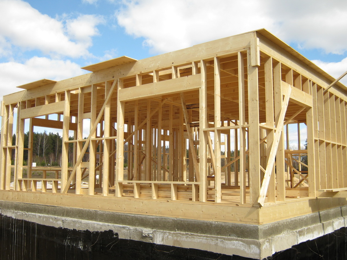 Дома деревянные каркасные фото
